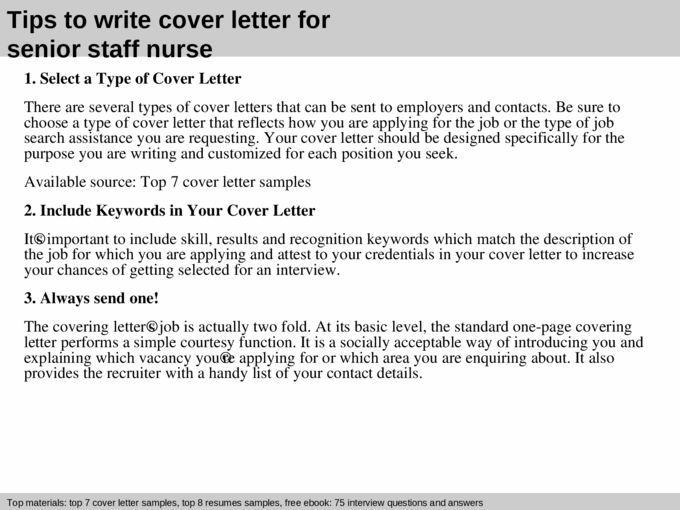 Senior staff nurse cover letter - [PPT Powerpoint]