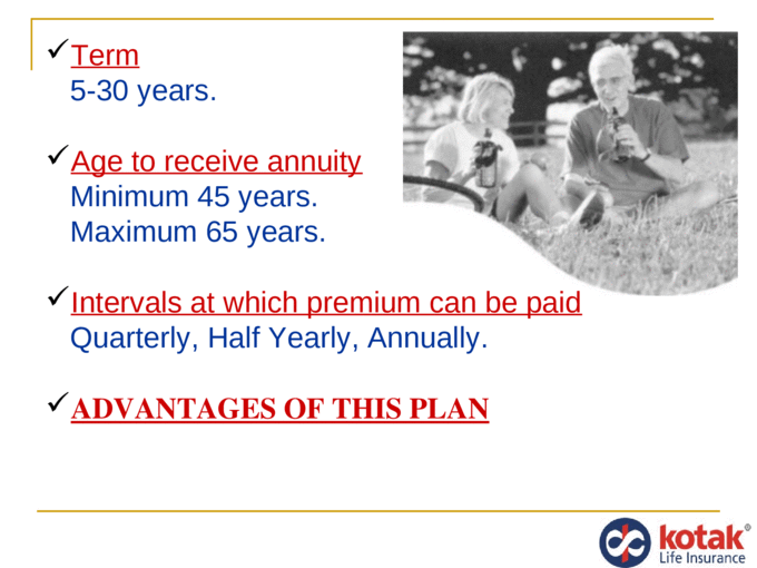kotak life insurance - PPT Powerpoint